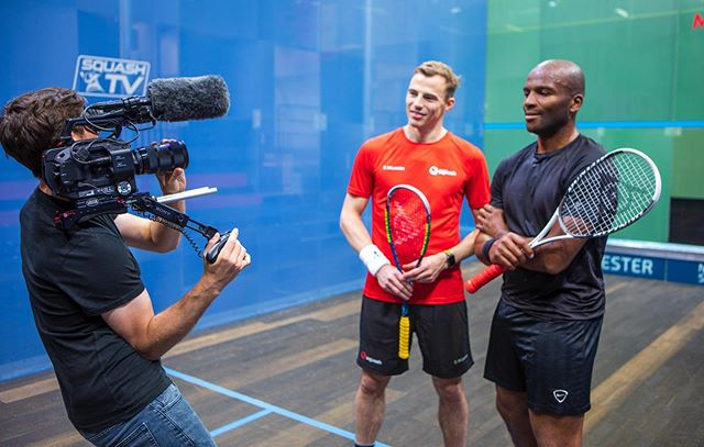 @ldrmedia shooting a promo with the 3 x World Champ @nickmatthewsquash 🏆🎥 . . . #sport #filming #bts #5d #canon #fs7 #sony #sigma #squash #manchester #camera #production #productioncompany