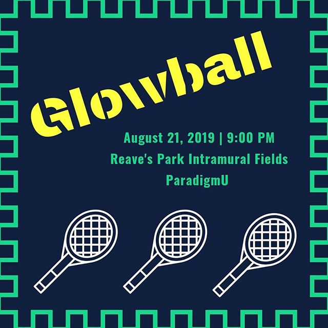 Glowball tonight at 9pm at the Reave's Park softball fields. Come hungry for snow cones and victory!