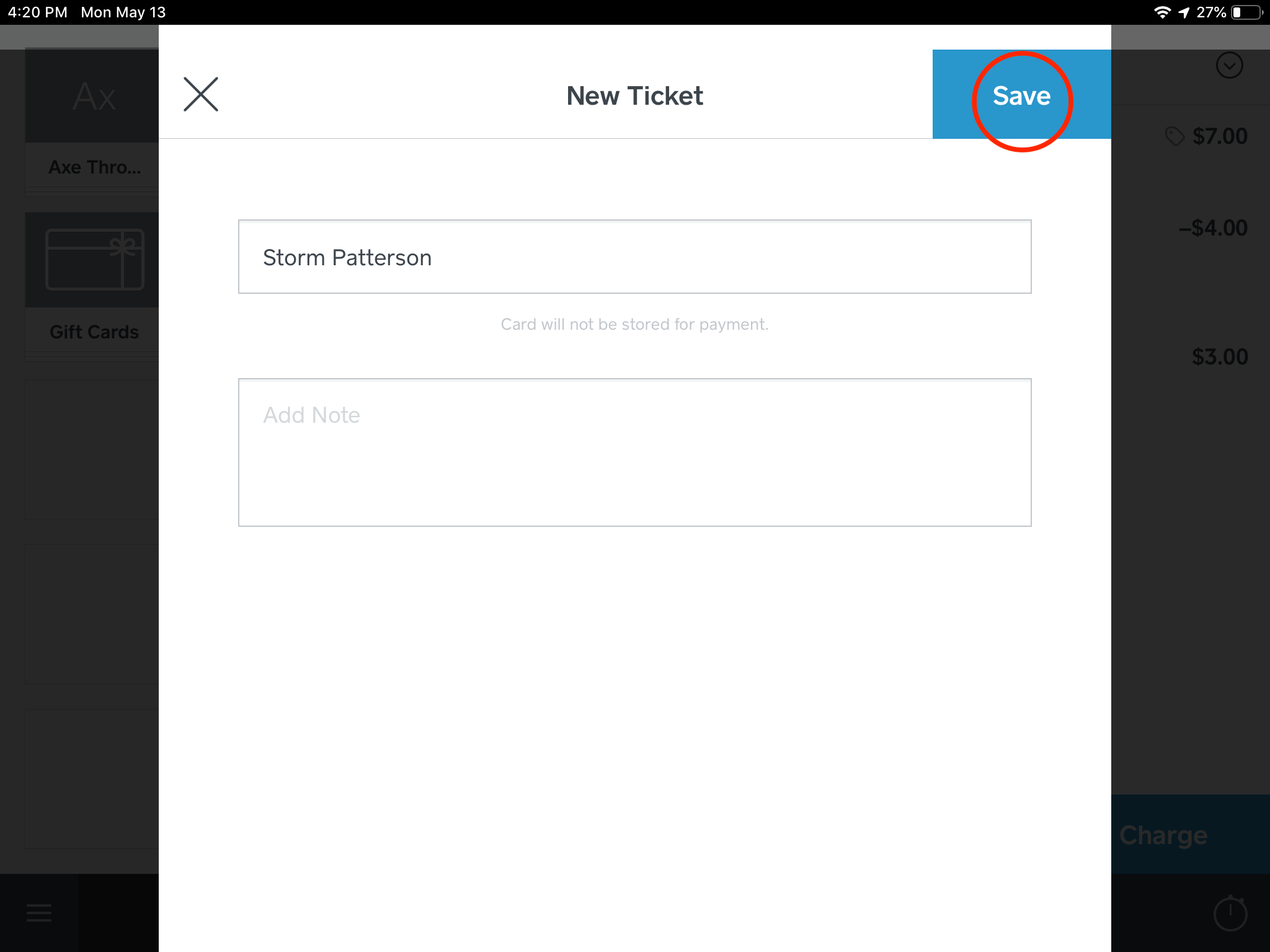 """Step 3: Enter the guest's name and select """"Save""""."""