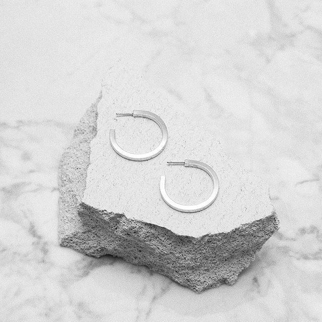 | THICK Hoops in silver ✨ #persuedecph #handcrafted #sterlingsilver #unisex