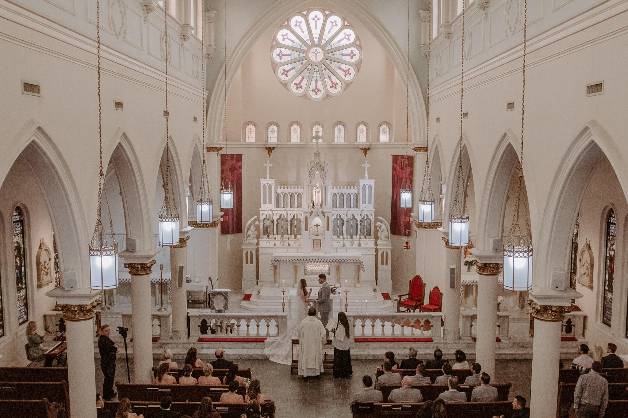 Catholic Houston Texas Flare Wedding Bell Tower-1702.jpg