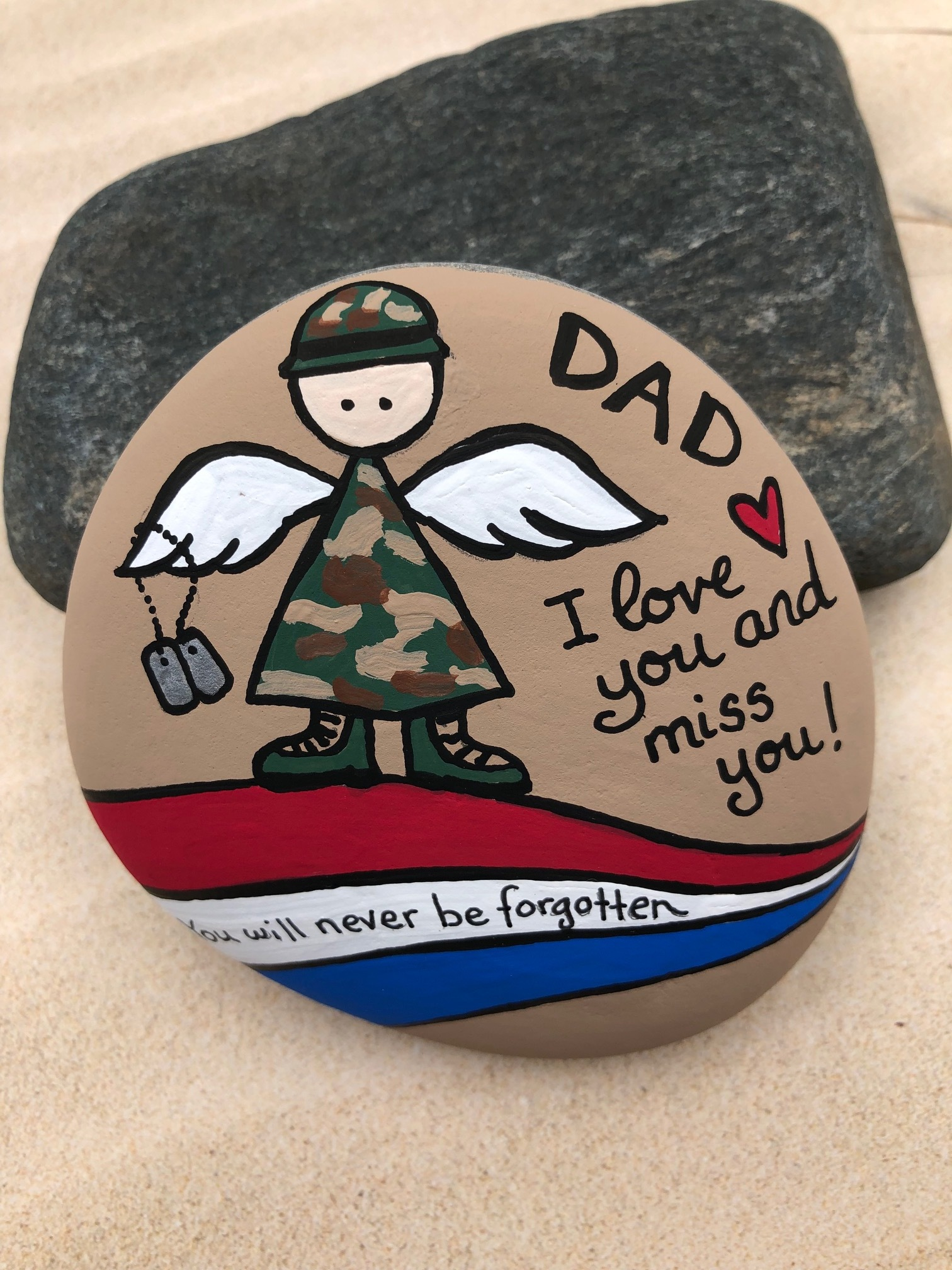 Army Angel Memorial Rock