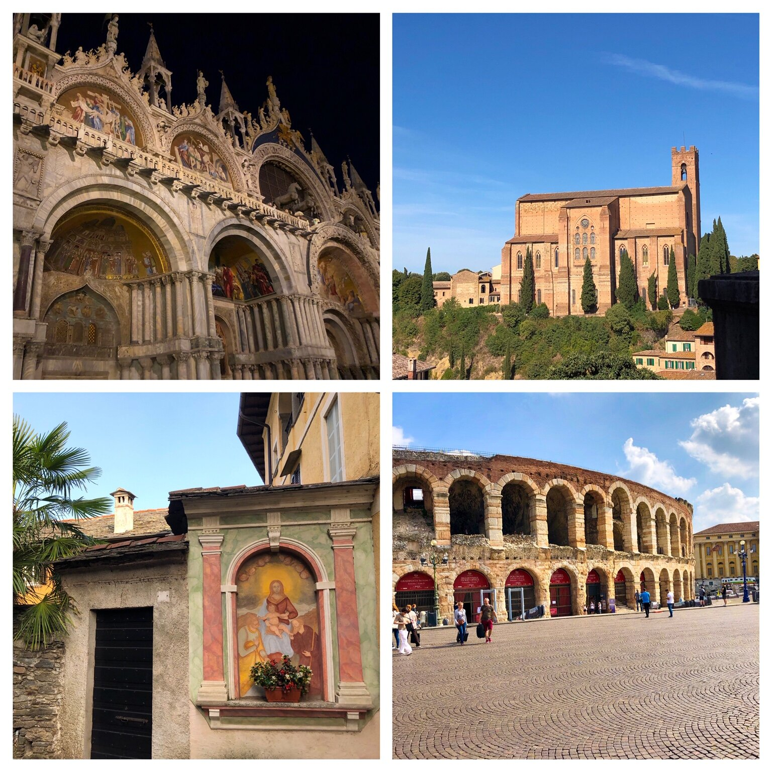Examples of structures built with stone in Italy