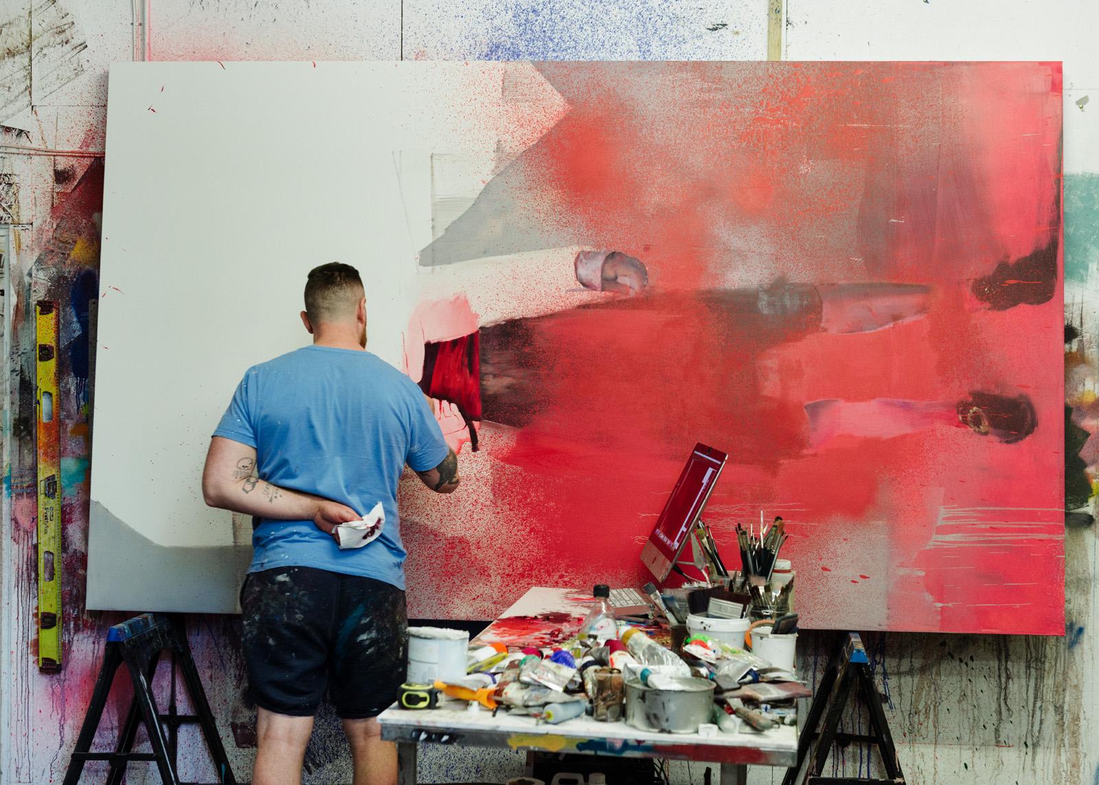 The studio of Irish artist, Conor Harrington