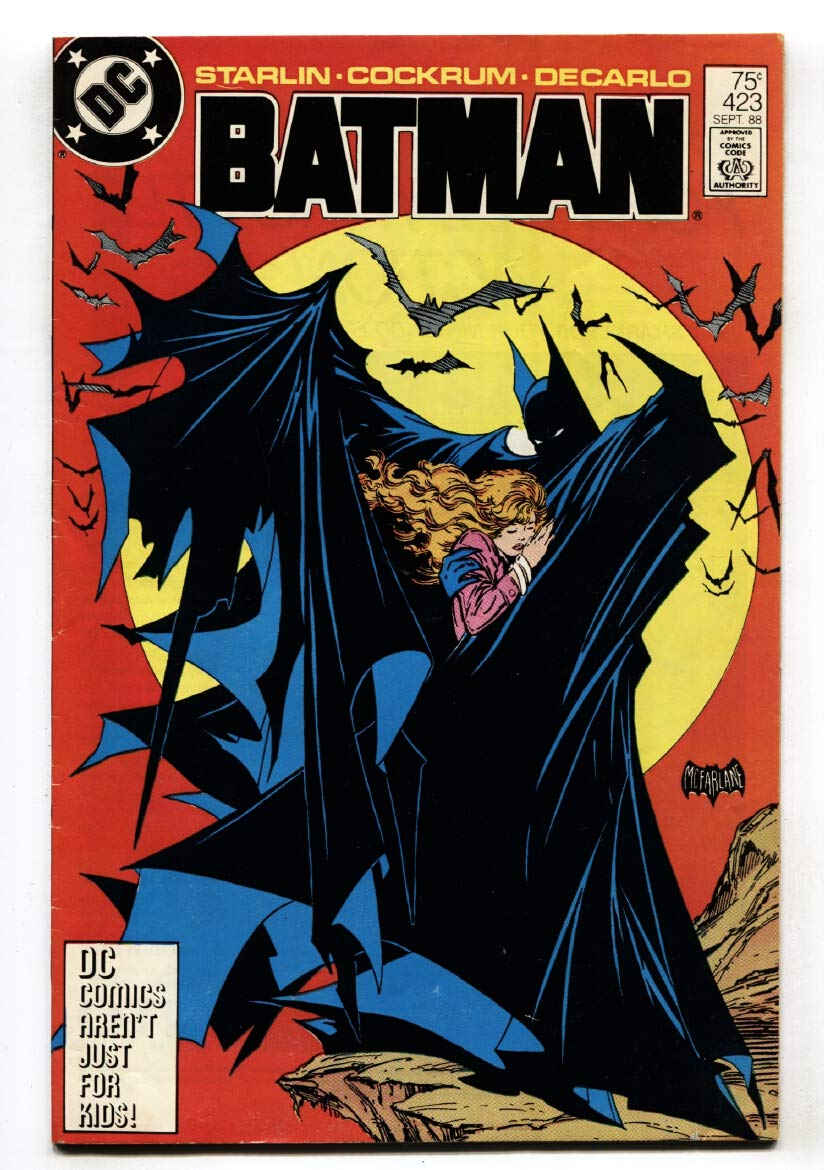 My analytical skills made up for my lack of super-hero drawing when I was young, as I was able to recognise a lot of DC and Marvel artists' styles. This cover was drawn by Todd McFarlane. What stood out to me was that there was an error drawing Batman's left ankle, when the above reference he used had not included any feet.
