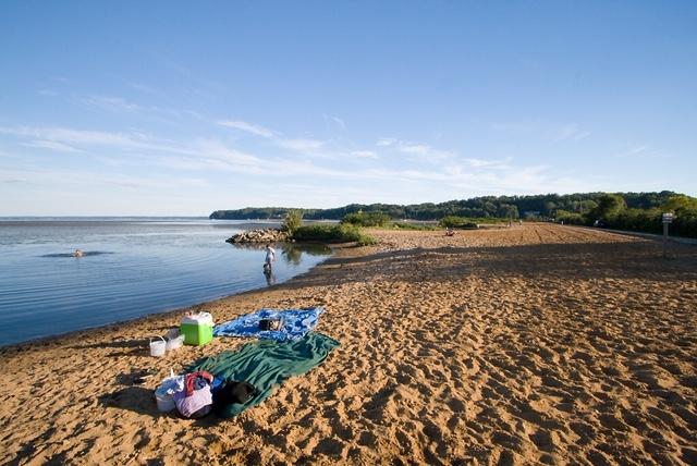 The beach at Aquia Landing
