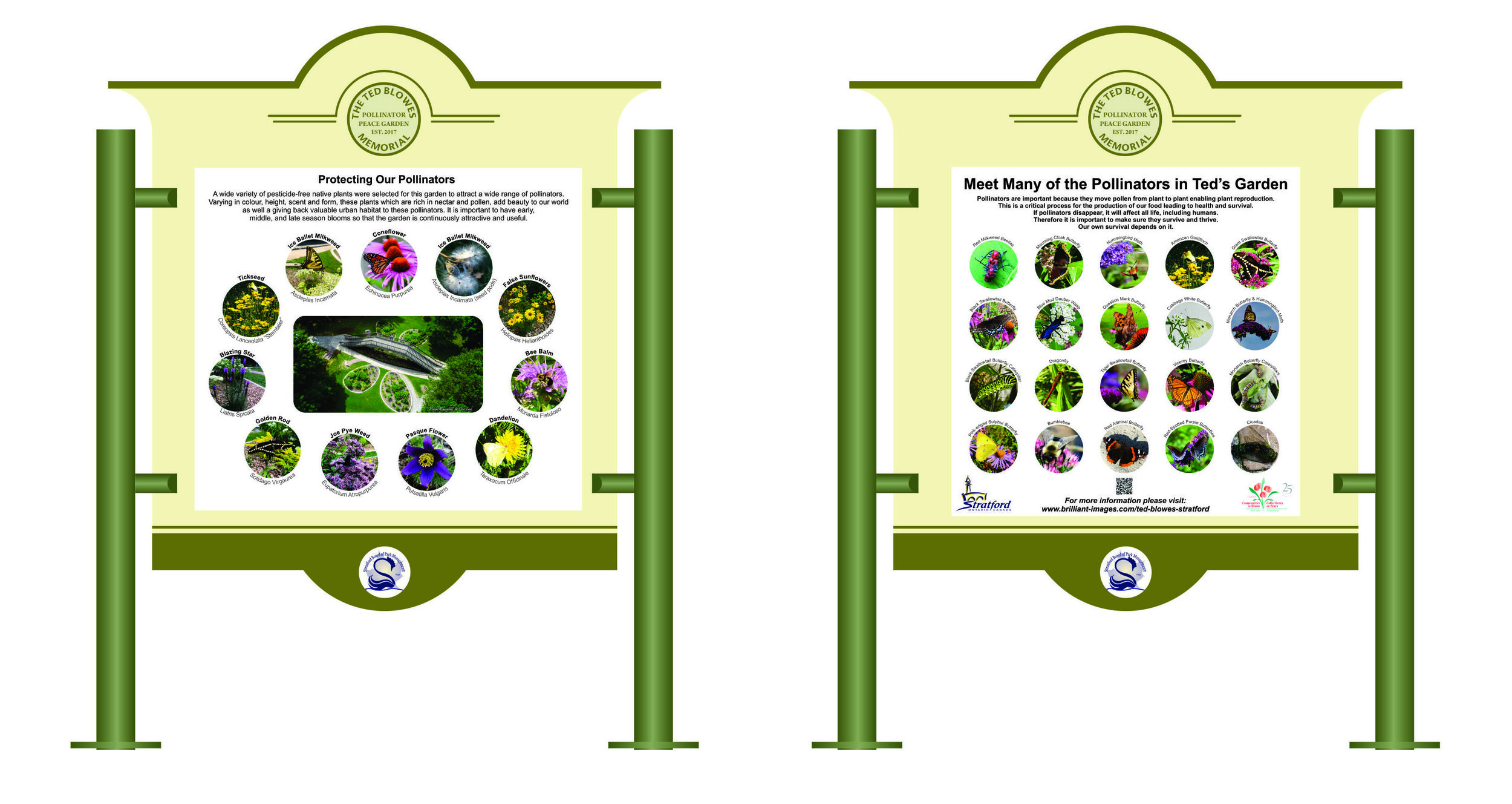 educational signs were added during the summer of 2019 as a communities in bloom 25th anniversary project.