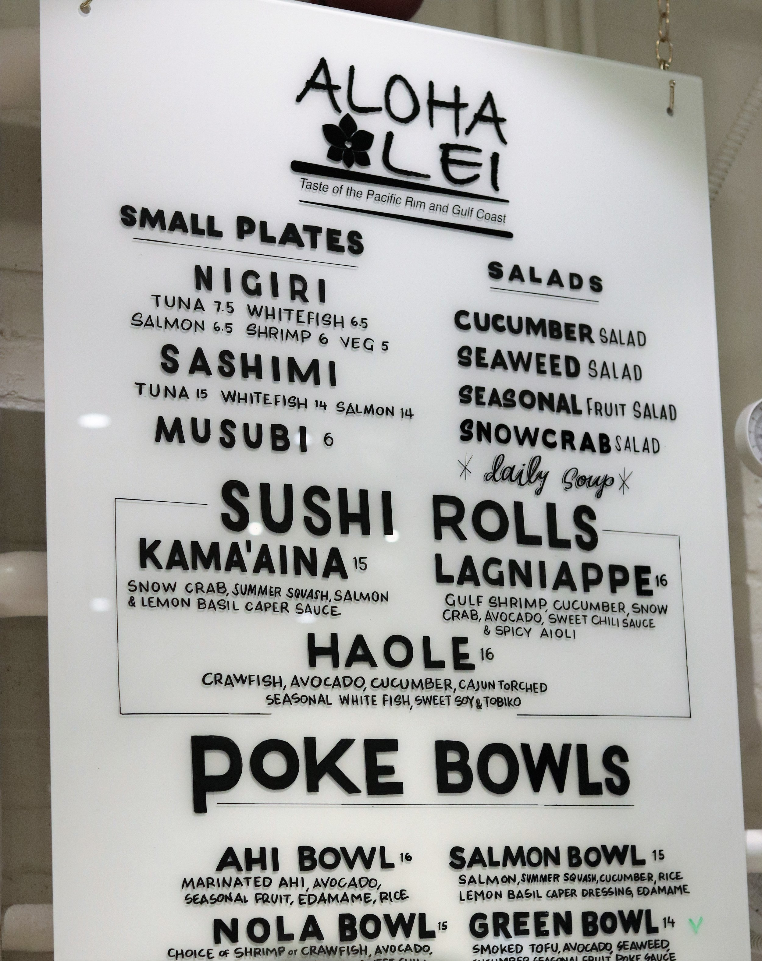 Aloha Lei  - We were both very excited for our next stop because Leah and I both love sushi.