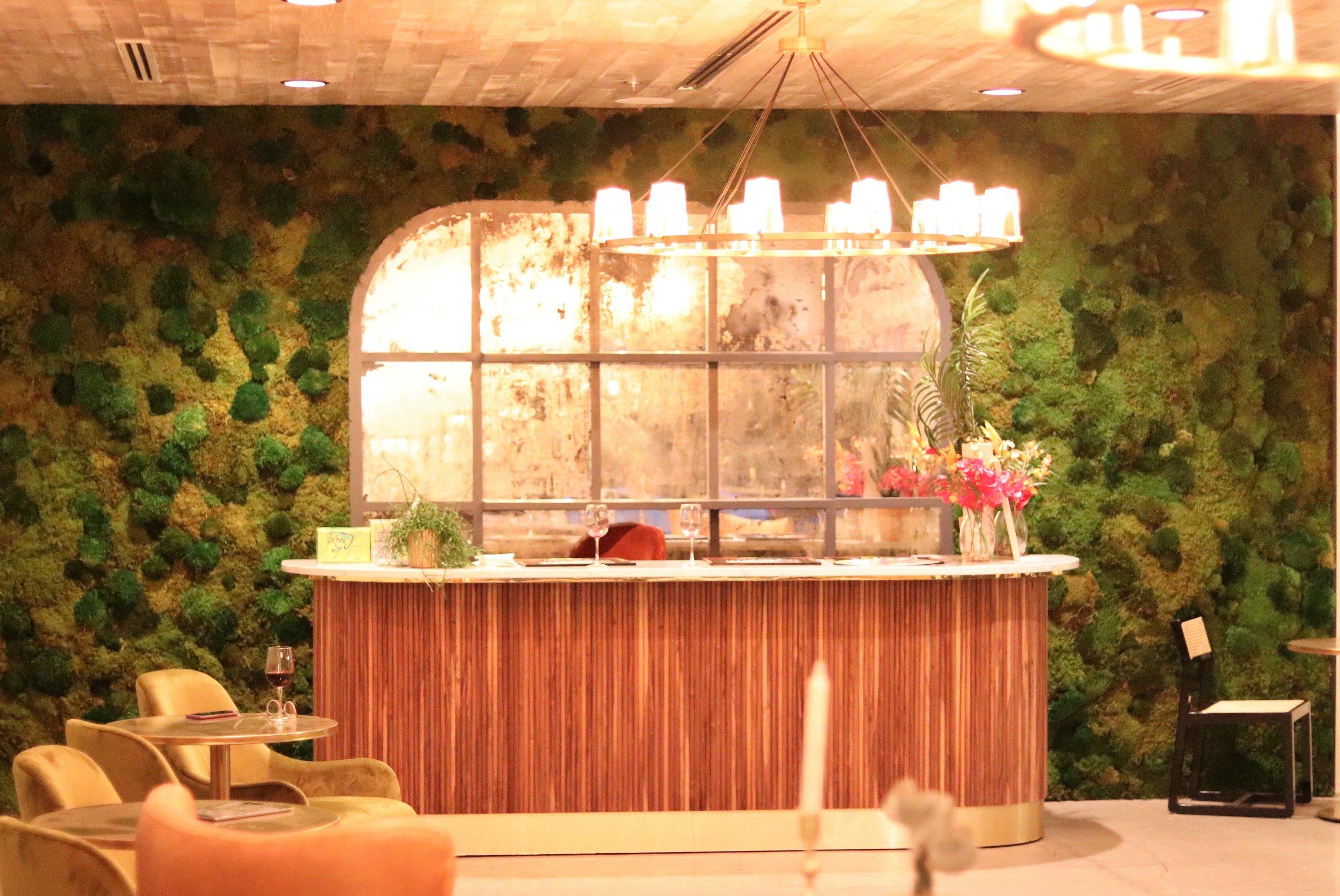 bar in private backroom