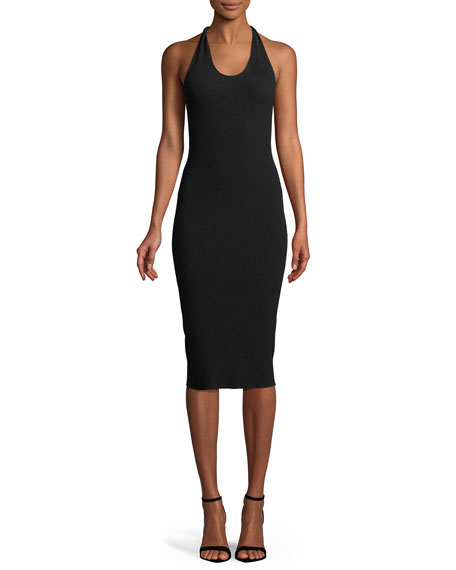 Helmut Lang - Twist Scoop Neck Midi Dress