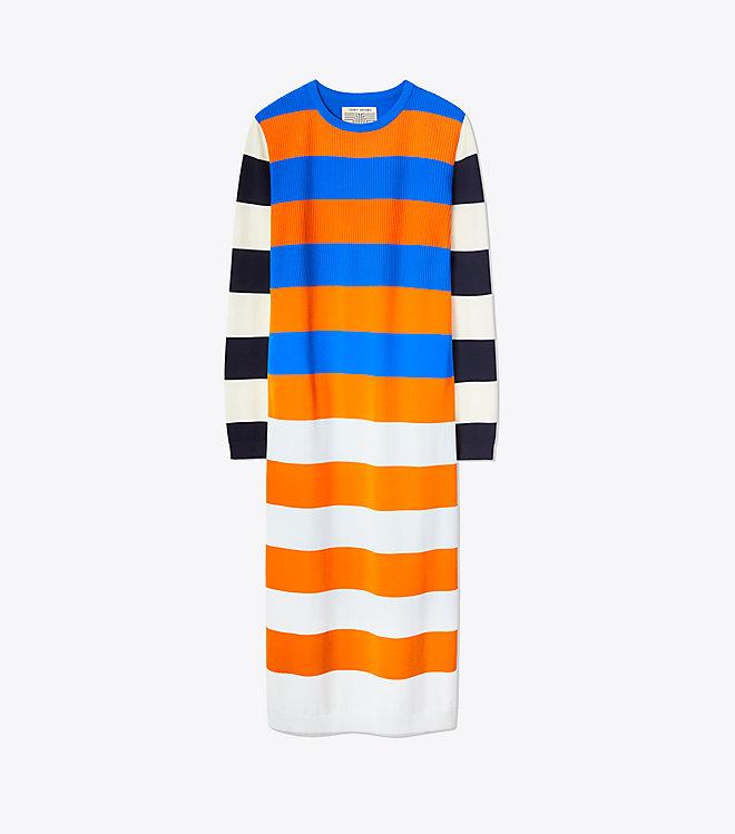 Tech Knit Broad Stripe Dress -