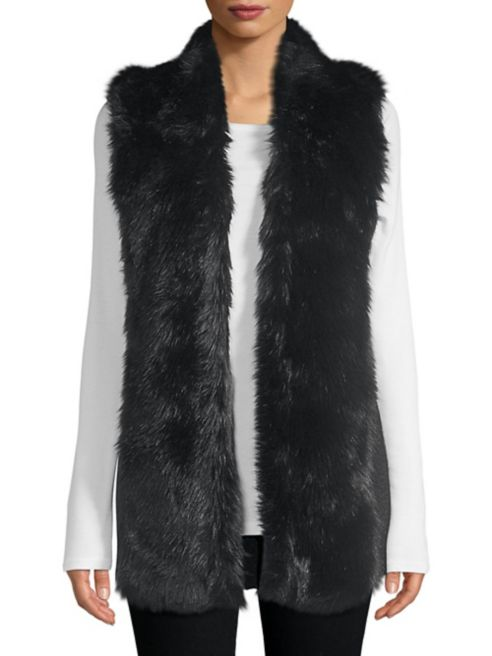 Faux Fur Vest - from Lord and Taylor