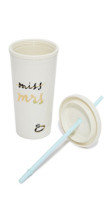 Miss to Mrs Tumbler - Kate Spade