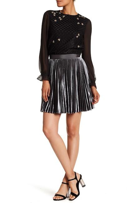 Velvet Pleated Skirt - Ted Baker London