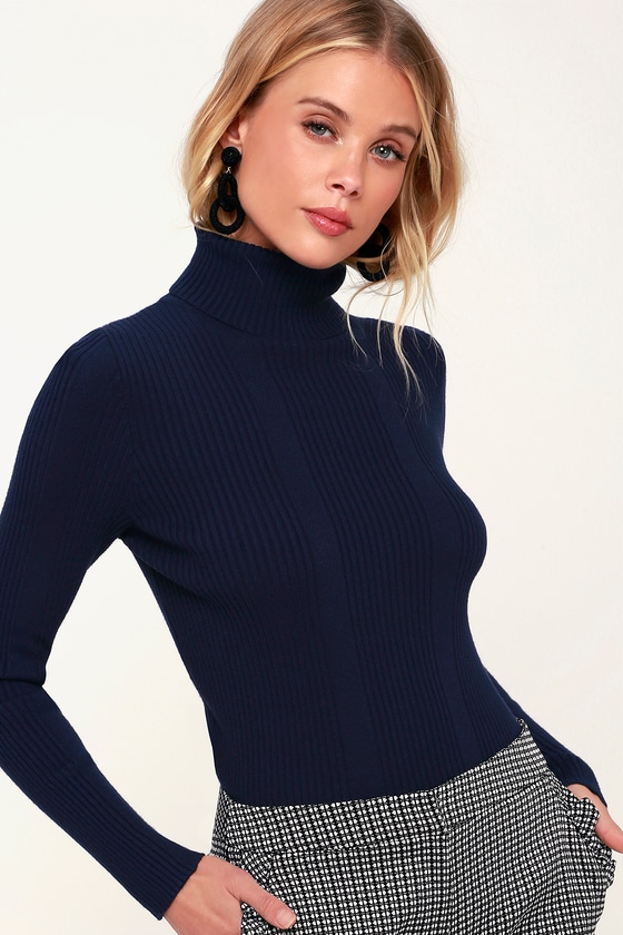 FOREVER FAVE RIBBED TURTLENECK TOP - Lulu's