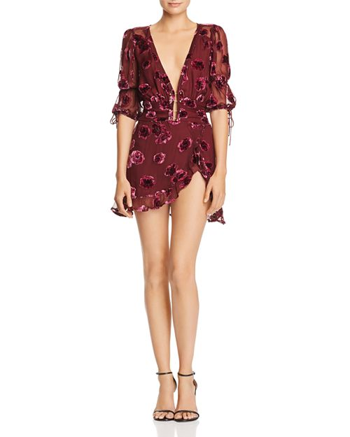 Sophie Velvet Floral Dress - For Love and Lemons