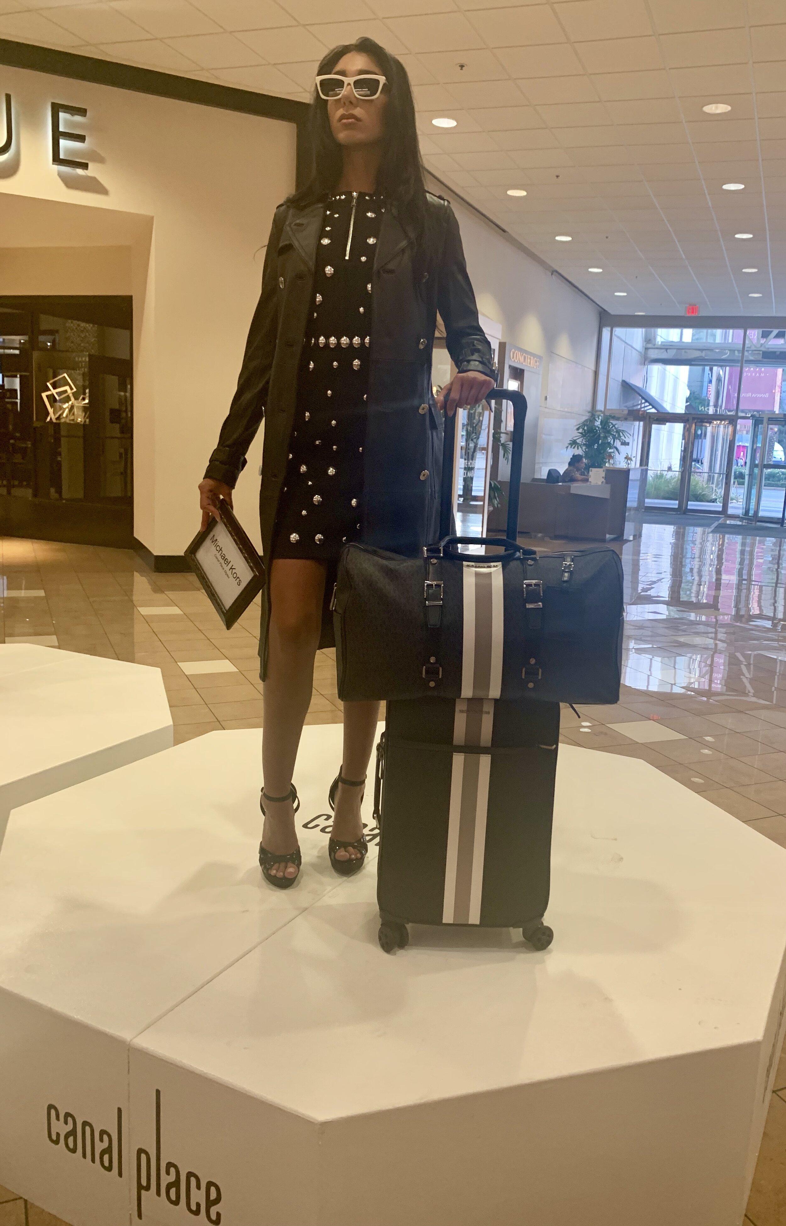 MICHAEL  Michael Kors Studded Zip-Detail Mini Dress