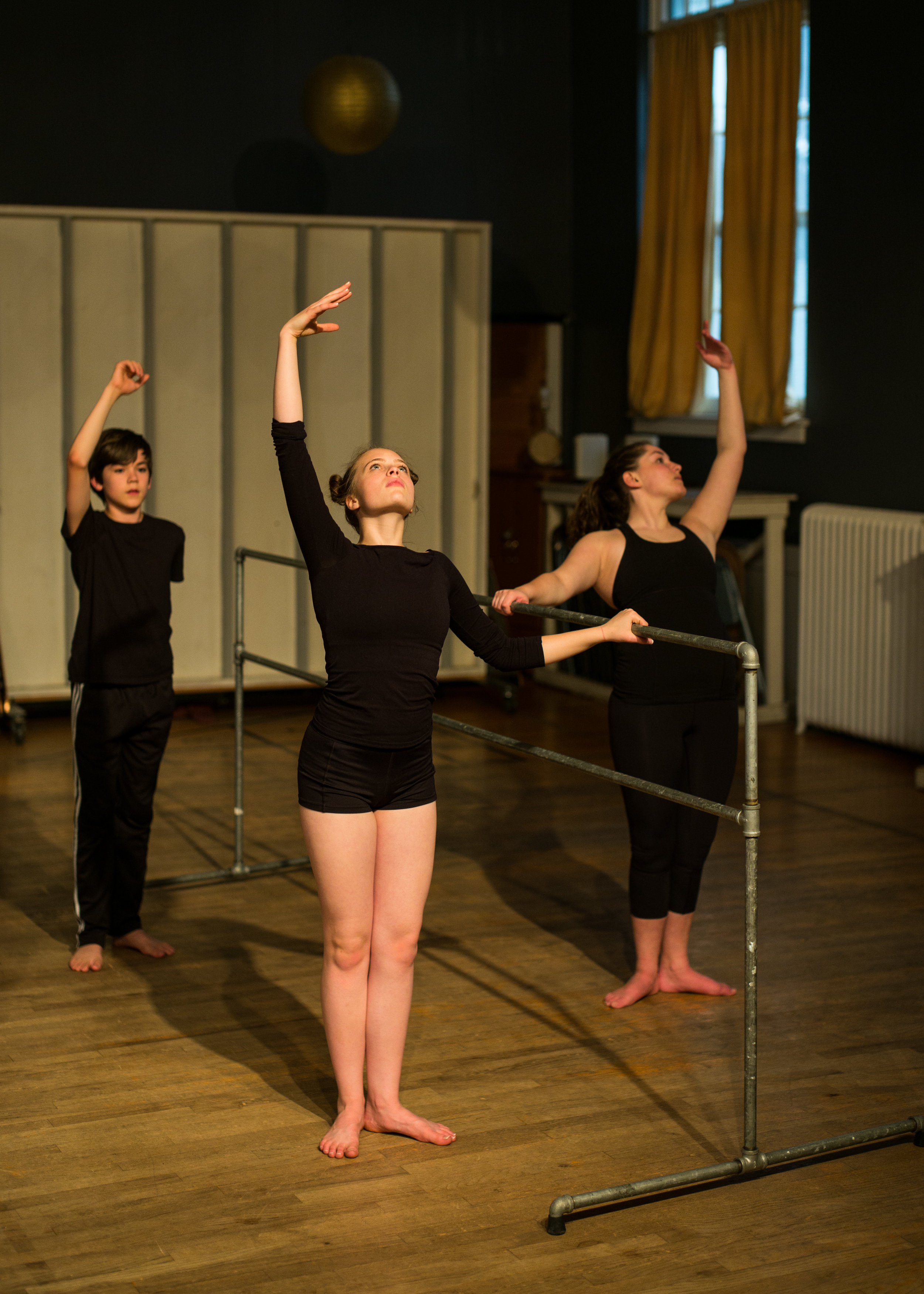 I use the form of ballet to create my lines and precision