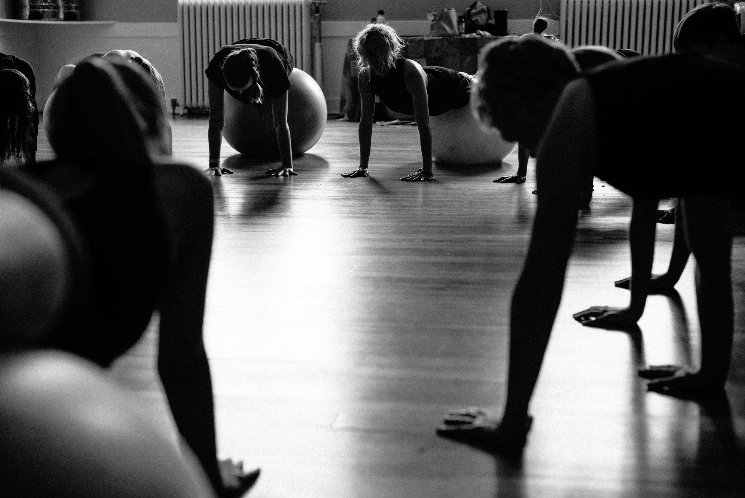 ballet, yoga, contemporary modern