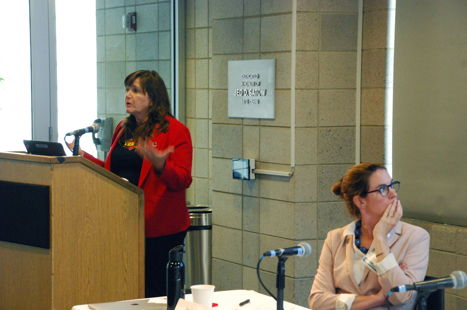 Jeanne Holm of the City of Los Angeles details the city's work to align existing sustainability plans with the SDG indicators. Source: Micha Dugan for SDSN