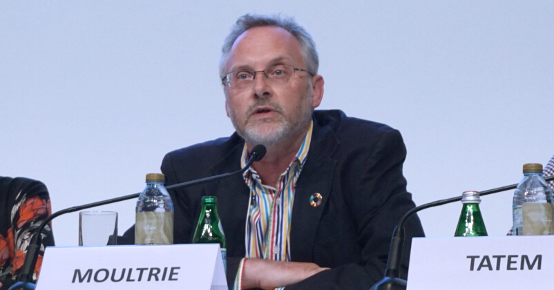 Tom Moultrie speaks at the UN World Data Forum 2018, Oct. 23, 2018