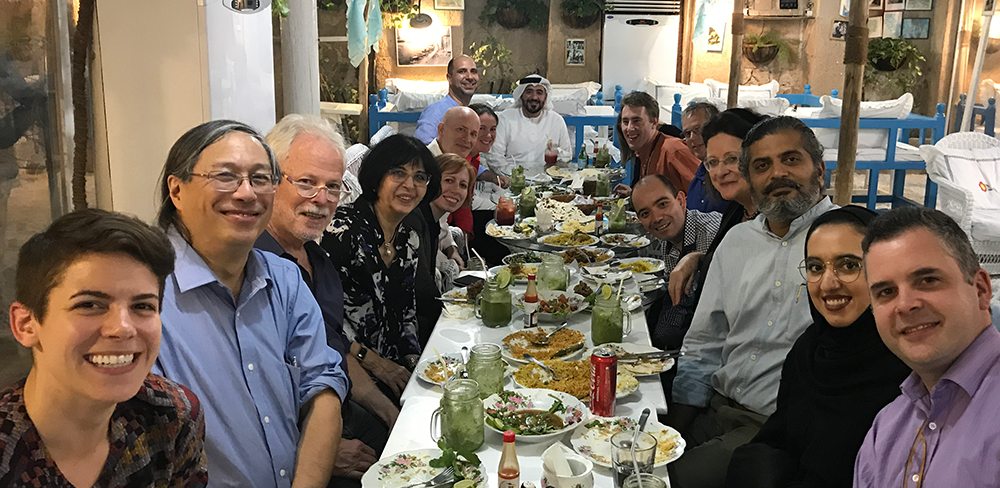 TReNDS and FCSA enjoy a traditional regional meal in Dubai.