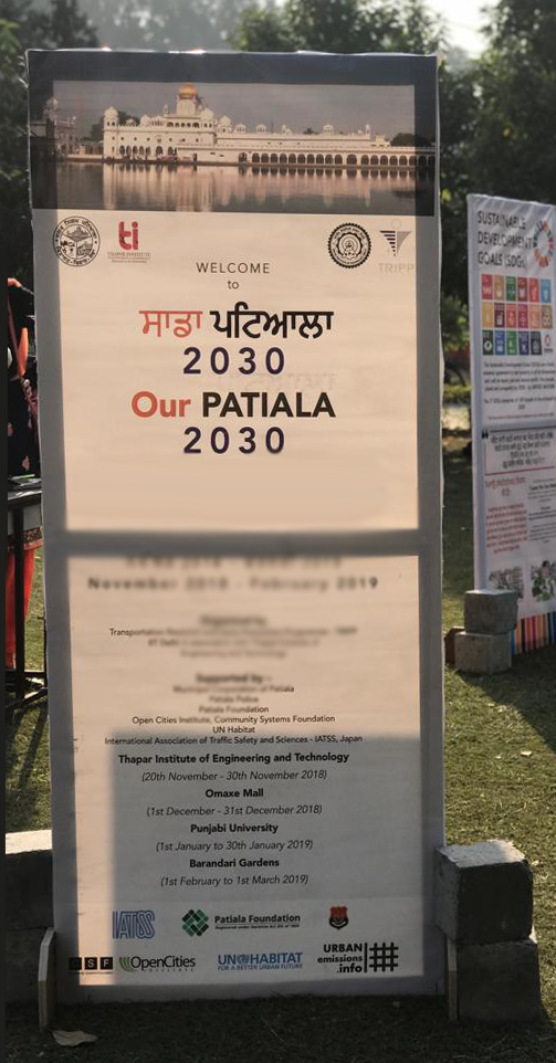 The traveling exhibition  Our Patiala 2030  generated interest, suggestions, and feedback from the community to bolster SDG oriented action. Courtesy of Ruchi Varma for OCI.