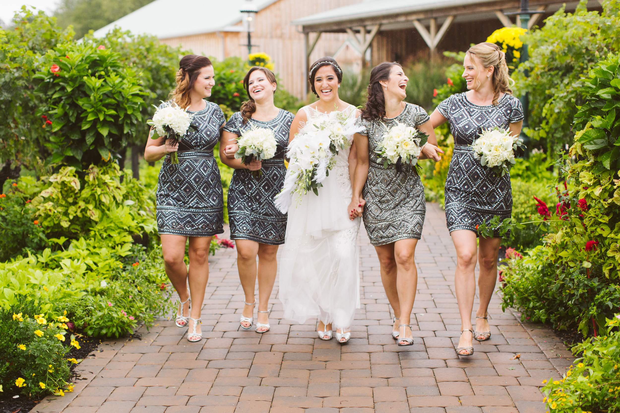 - Brush On Beauty was awesome! My bridesmaids all have different hair, from short and thin to long and thick. They were able to do a similar style on each girl and made them all look perfect. Their hair stayed looking the same all day, even with humid weather and crazy dancing! ~Julianna
