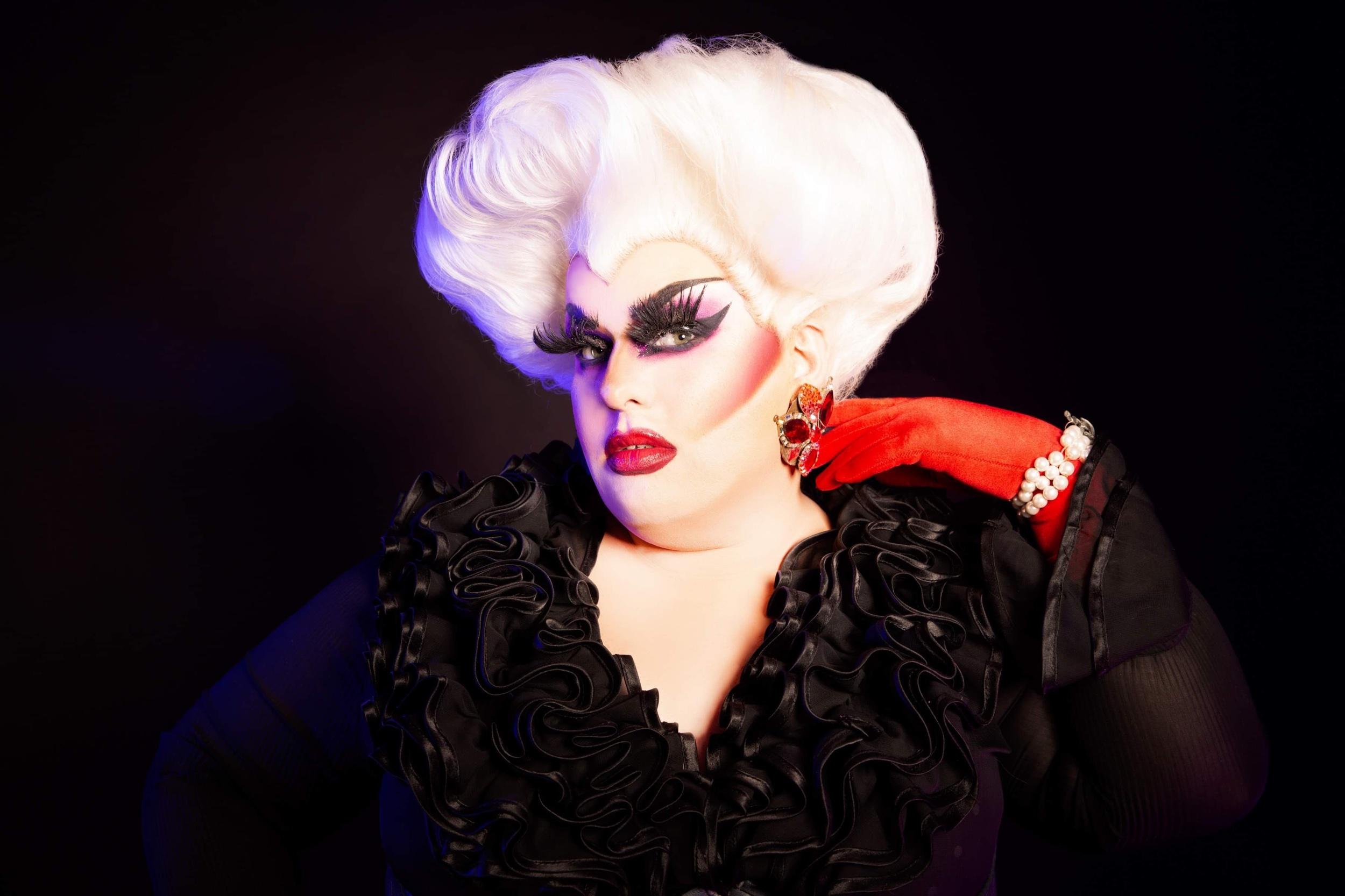 Model, Hair & Makeup:  Vivian Darling . Dress & Accessories: Vivian Darling.  Karlie Cary Lanni , Principal Photographer