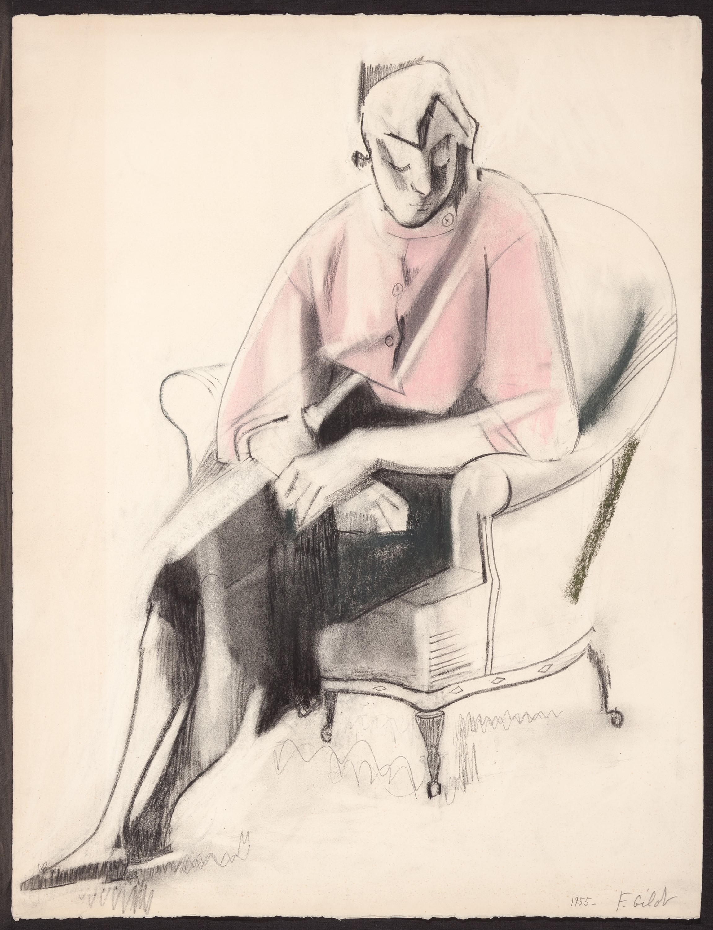 Germaine in a Pink Blouse (1955)