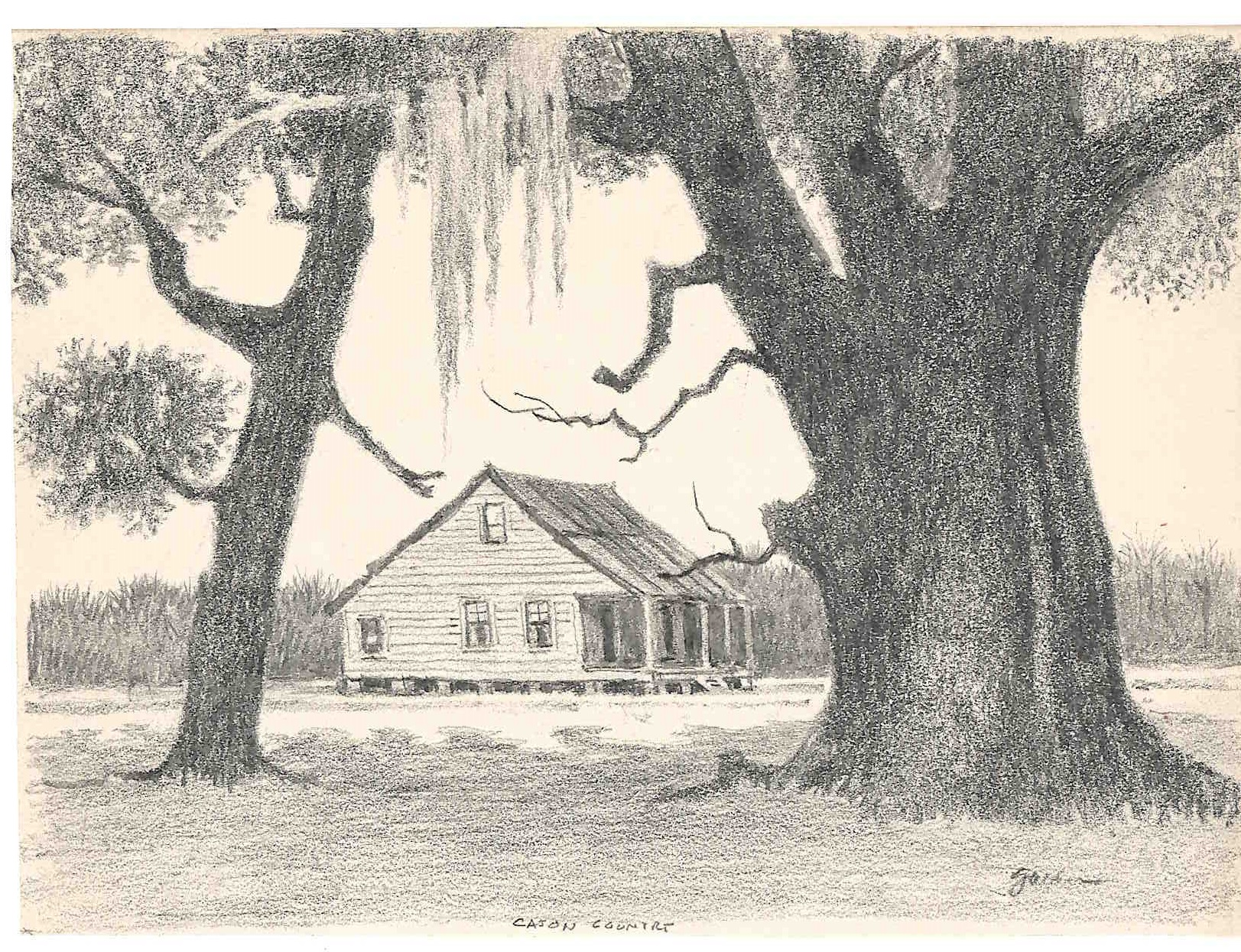 SOLD - Untitled - Under the Oaks (circa 1960s)