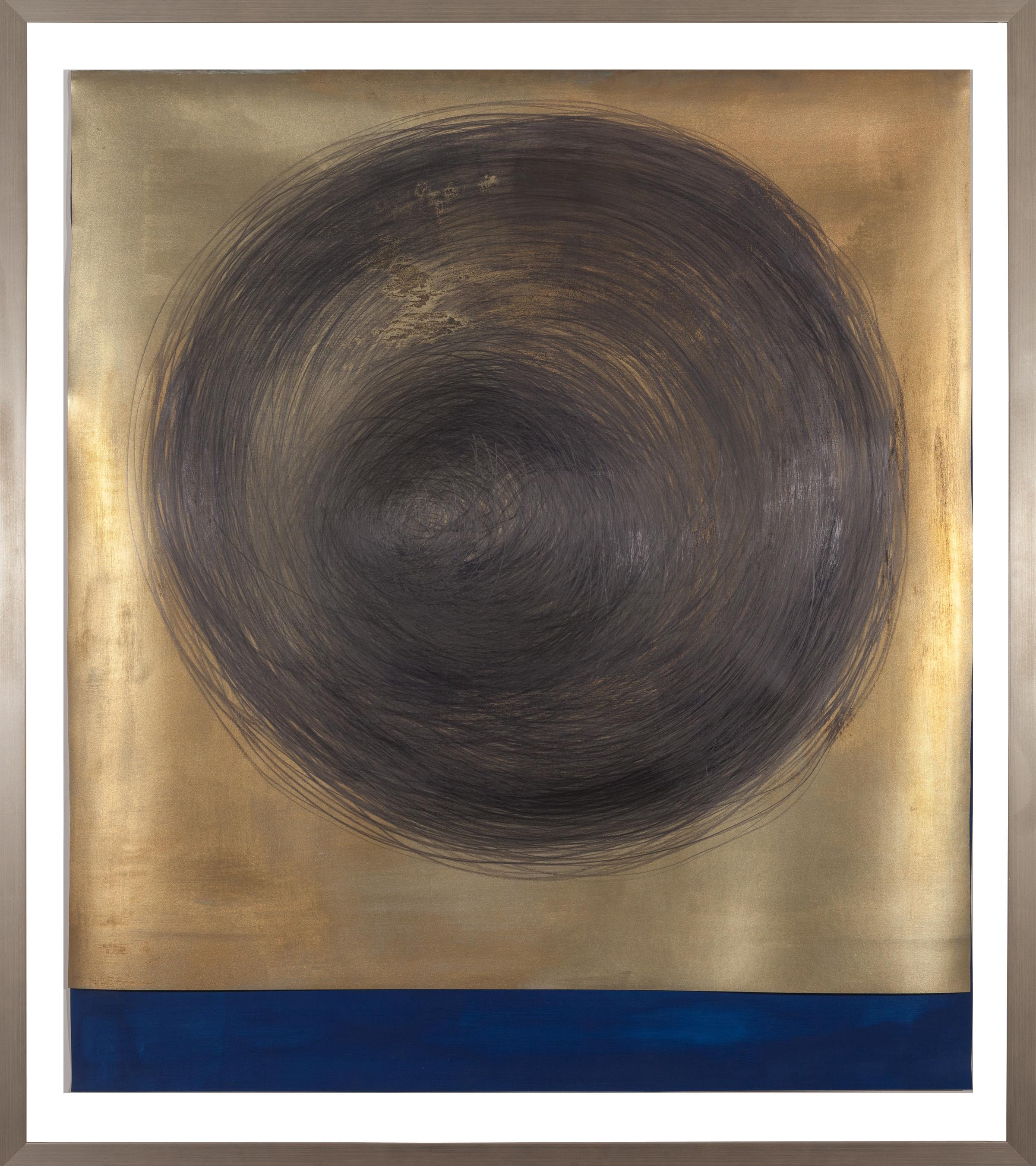 SOLD - Circle Drawing Gold/Navy/Blue (2017)