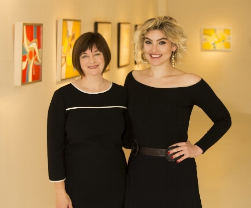 Founders of Mac-Gryder Gallery: Jill McGaughey (left) and Garlyn Gryder (right)