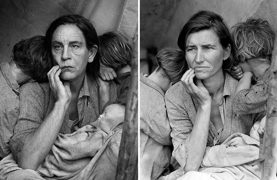 Sandro Miller,  Dorothea Lange / Migrant Mother, Nipomo, California (1936) , 2014