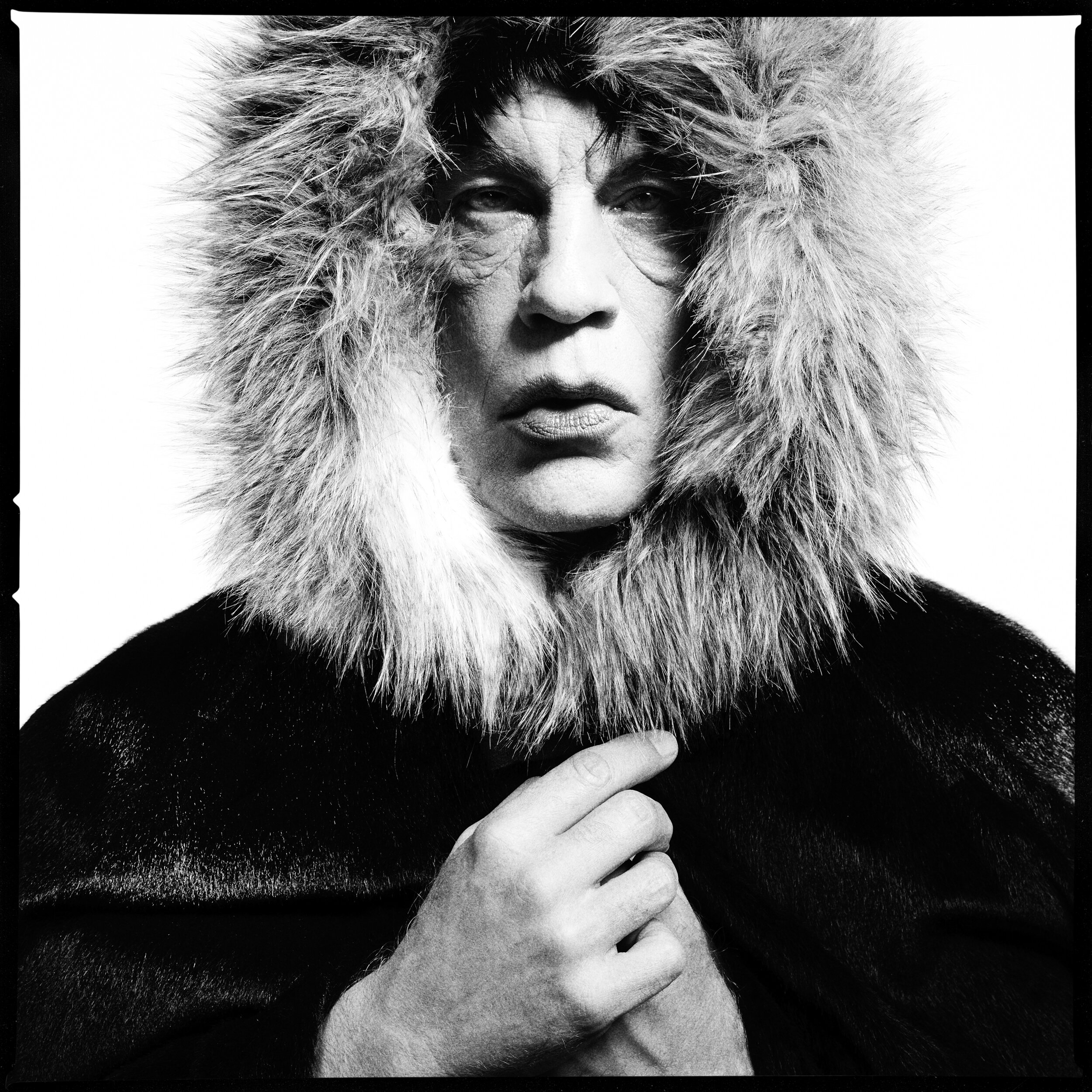 David Bailey _ Mick Jagger Fur Hood (1964), 2014.jpg