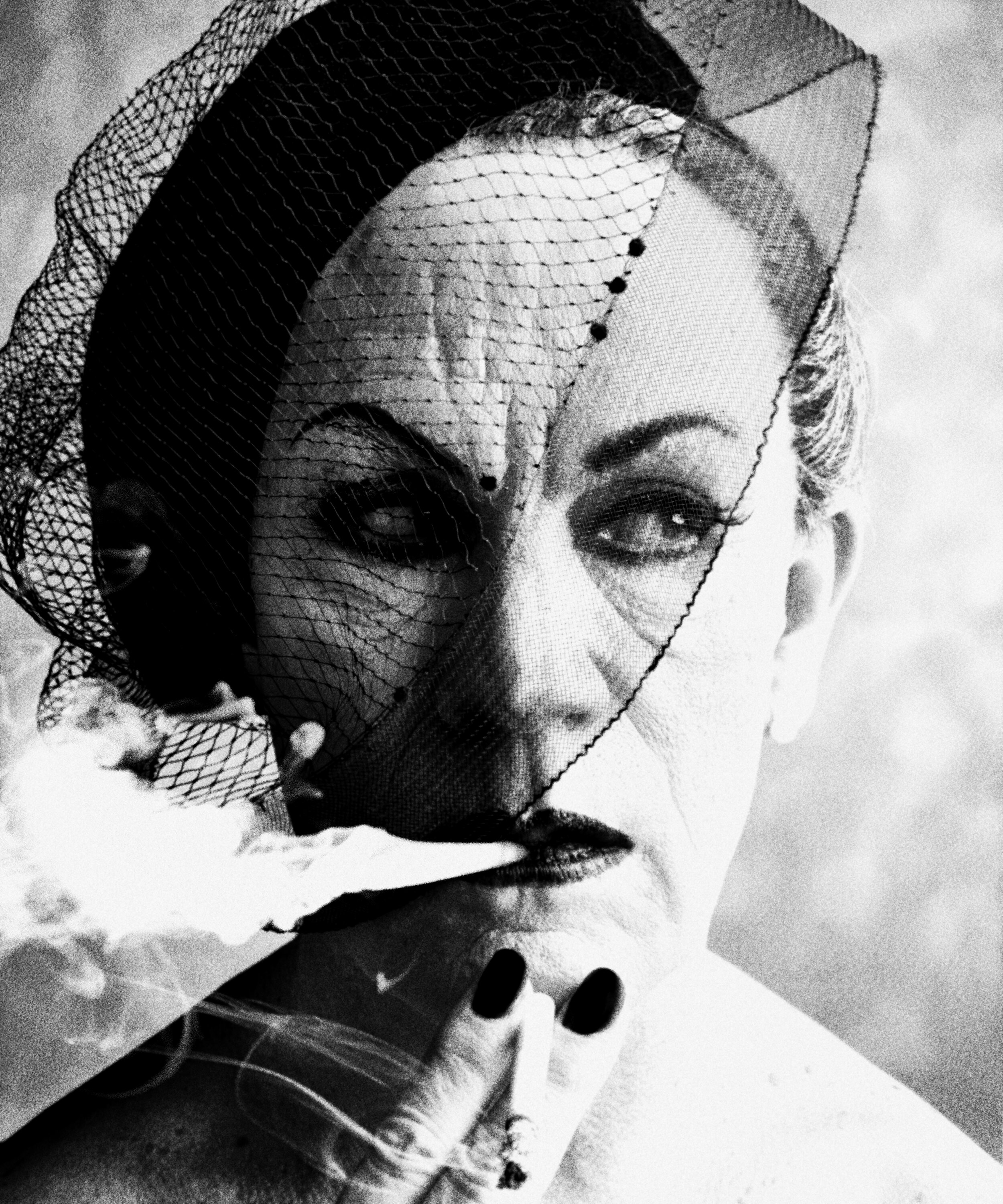 William Klein _ Smoke and Veil, Paris (Vogue) (1958), 2014.jpg