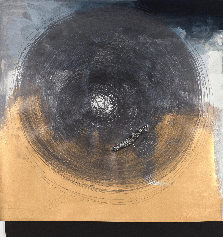 Circle Drawing: Gold/Grey-Blue Watercolor 1 hour 22 minutes  (2018)