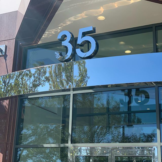 "Sunday- a time to post the accomplishments of the week. Custom fabricated 5"" deep polished stainless steel letters for this business park in Burlington, MA. #signs #corporatesigns #fabrication #stainlesssteel #installation #numbers #handcrafted #madeinmassachusetts #smallbusiness"