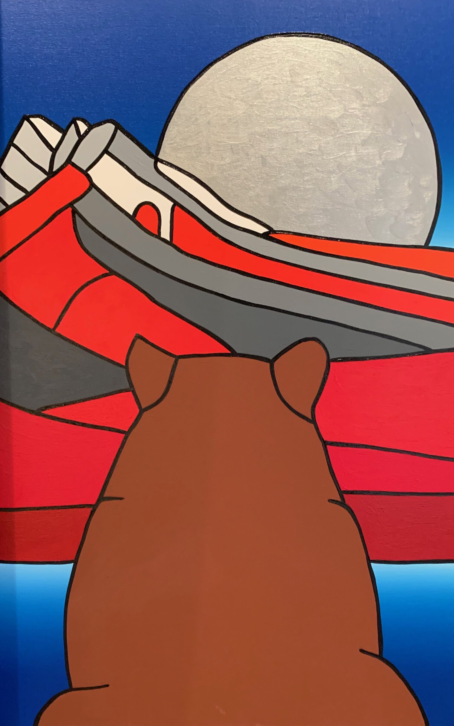 Curious Bear Talks to Old Man Moon