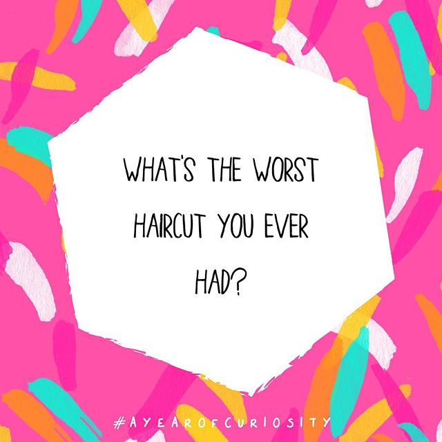 WHAT a week! Ended up in the emergency room with Mr Meg for over 12 hours (he's fine! 💖) have missed you all! . So for today's #ayearofcuriosity question, I want to know, what's the worst haircut you've ever had?! . I decided mine is easier to show you than tell you about so swipe for the photo! I dyed it with henna and NO product worked and I looked like I was wearing a merkin! 😂 . Also, Bill Gates?! I was at an event for the UK Poverty Project and we were SO squashed he was wearing my boobs as a backpack 😂😂 All I could do was imagine how much money my boobs were touching at that moment! . Dear me! . So, back to the haircut thing! What was your worst?! . . . #couragemakers #selfcaresunday #sundayfunday #createandcultivate #thatsdarling #communityovercompetition