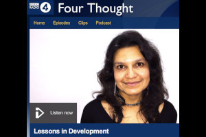 BBC Radio 4 Four Thought. - Alpa Shah reflects on democracy, mining and development for tribal people. Live broadcast from Somerset House on 9/12/2015