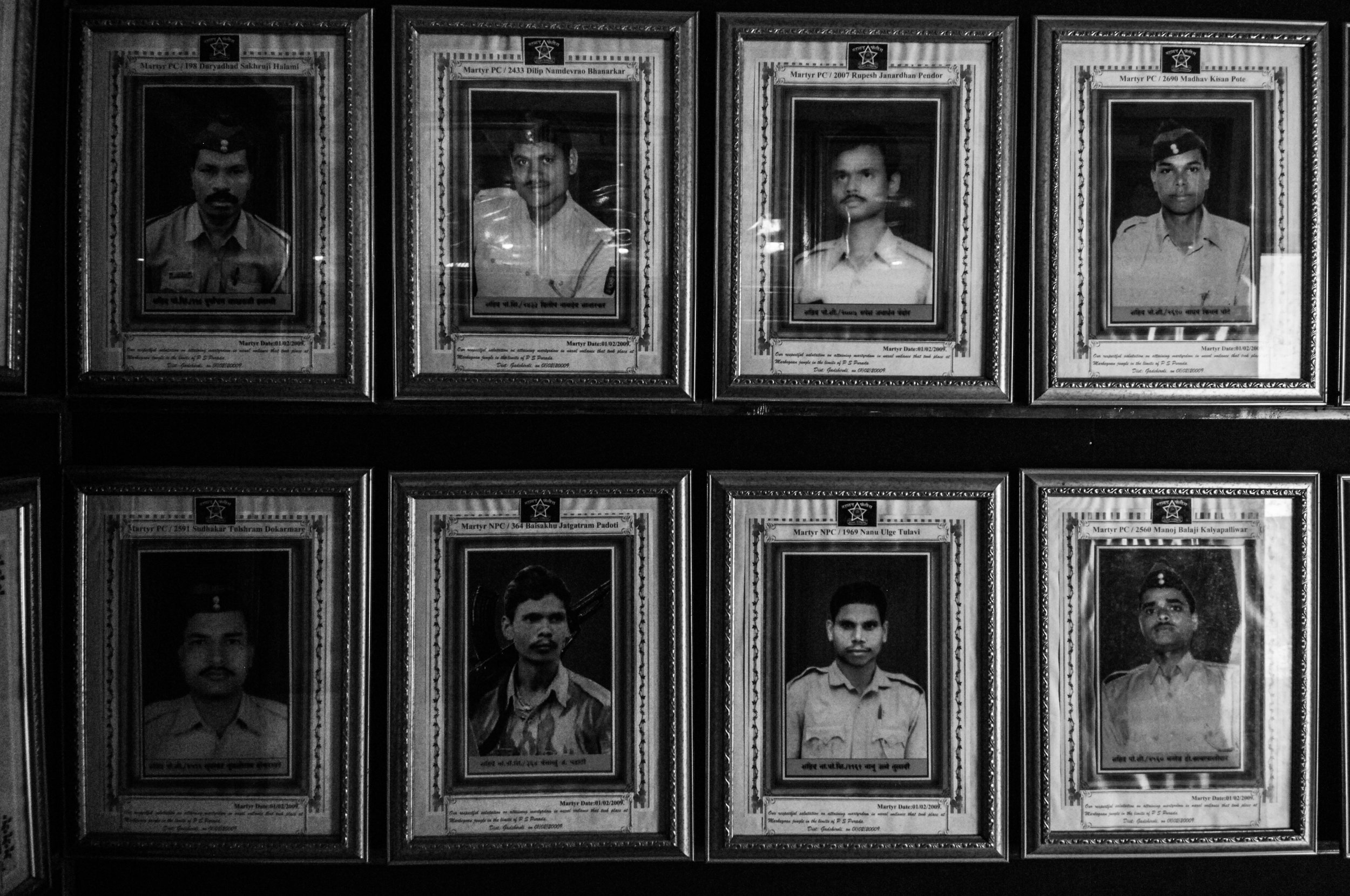 Z18 Police martyrs' gallery in Gadchiroli police station.jpg