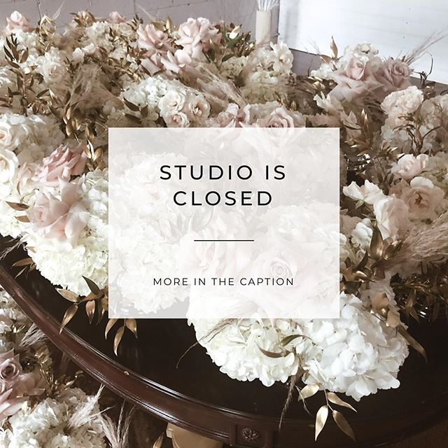 With a very sad heart I would like to announce that my flower studio is closed. I am NOT going OUT of business! Read bellow! . . As of now Studio is available for rent. . . I am not going out of business!  I am staying in the industry as my side hustle and focusing on weddings and events. . . My husband and I tried to keep the studio running until our last breath but we have decided that the best way for our family is to let the brick and mortar location go! . . You can expect a few changes like the name, phone number etc, but I am at reach on studio's email or social media at any time! . . Thank you for all your support and wish you the best day. . . Xoxo Eva