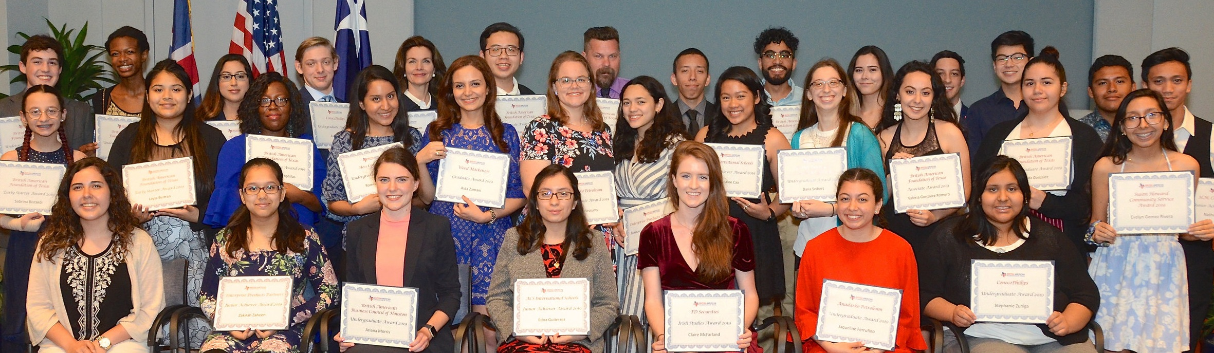 The British American Foundation of Texas Class of 2019
