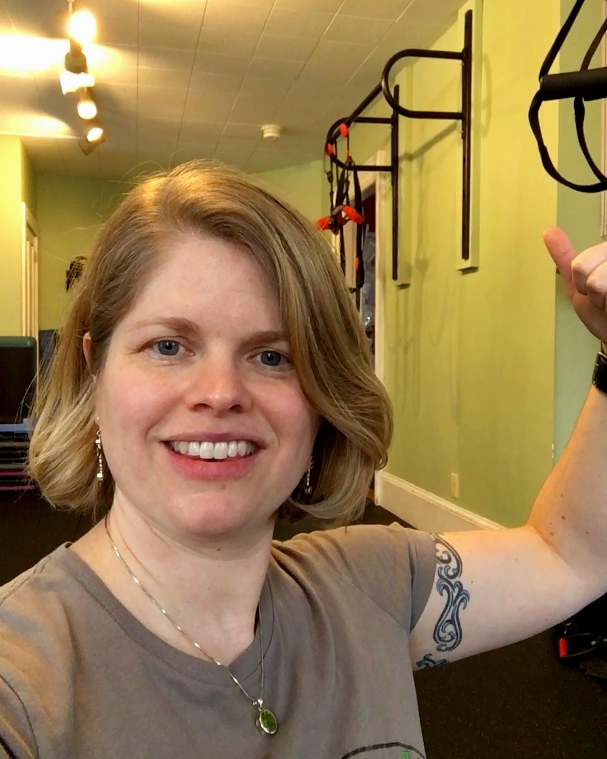"Strong Arm… - Here I am, joking about my ""bulging bicep"" a couple of months after surgery. After nearly a year of recovery, my strength is still not back to what it was prior to the injury and surgery - but I'm working on getting it there!"