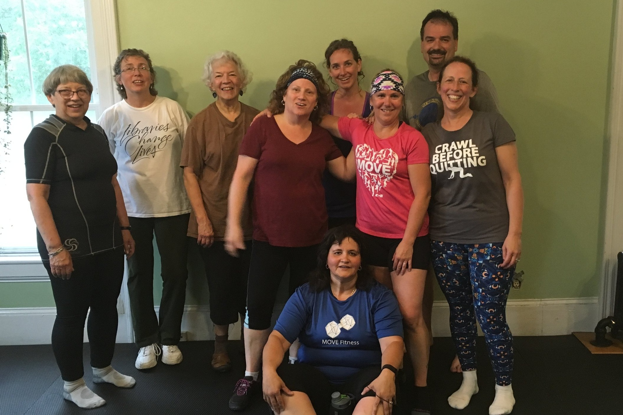 Bootcamp Crew! - Kristy (center, in pink) has always offered great energy and fun in bootcamp classes!