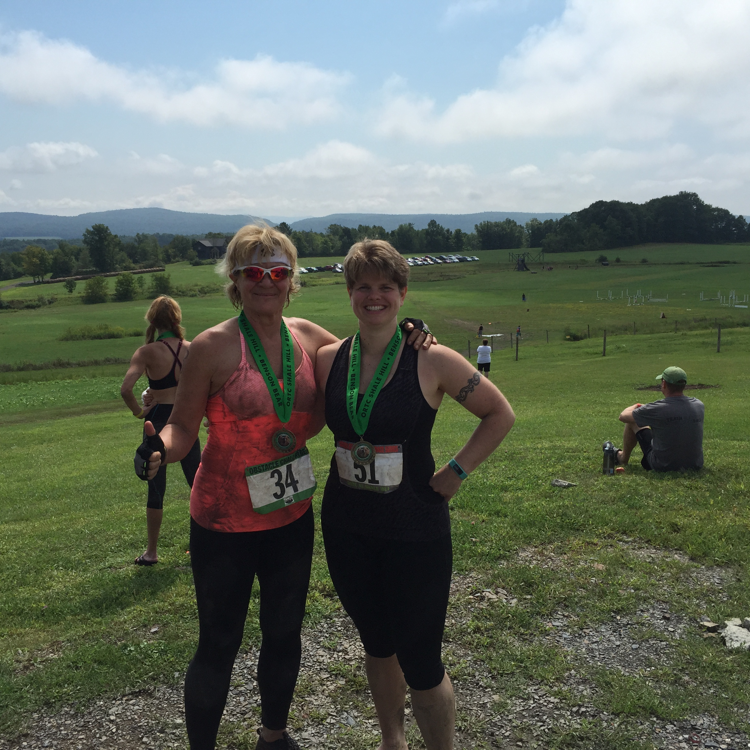 Lee and I after completing the Benson Bear Obstacle Course Race in August 2015.
