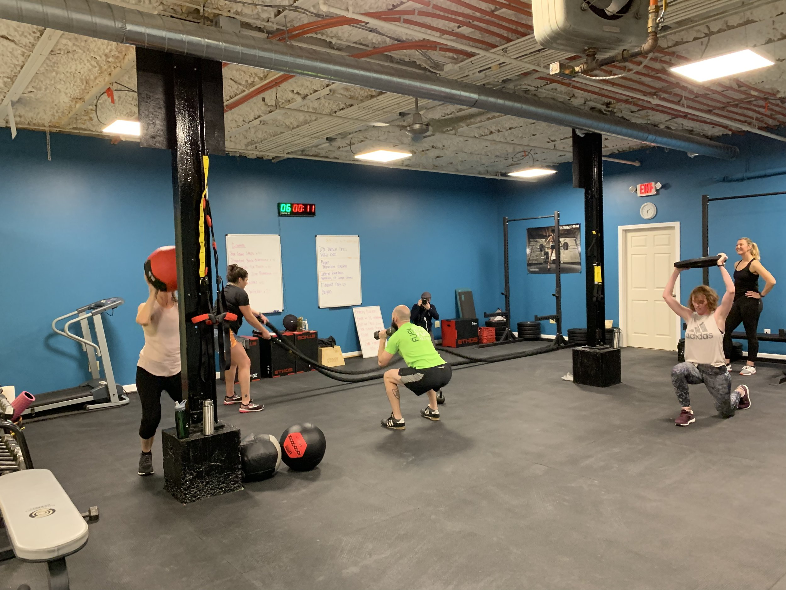 Group class at Movement Evolved.