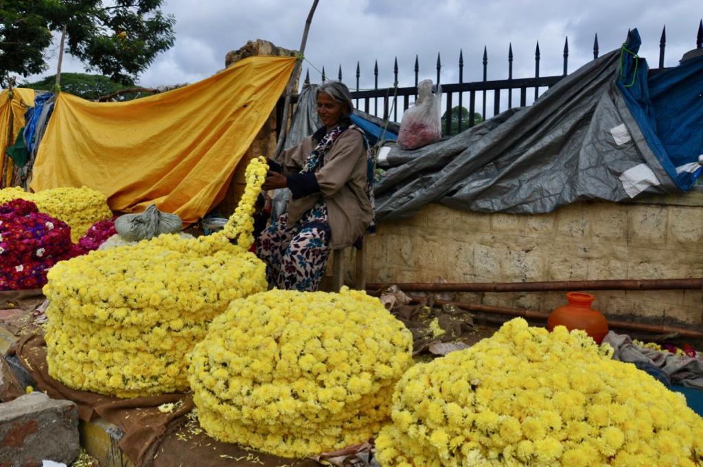 Flower Market Mysore