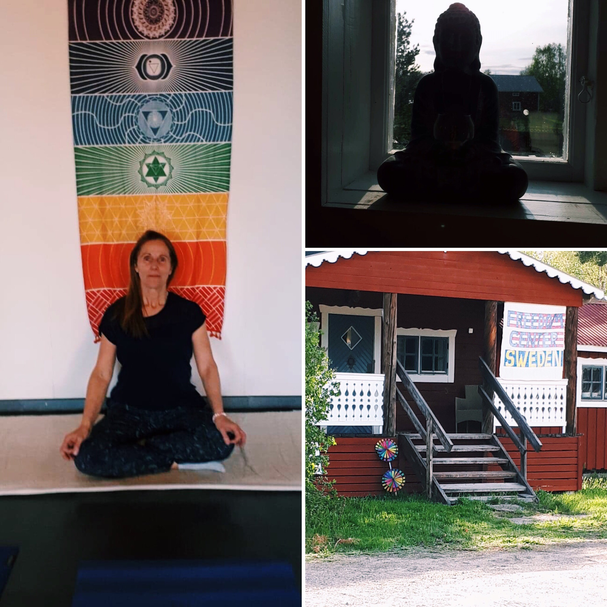 18 May Wellness pop-up - Laura did children and family yoga sessions at Färila Freedom Center among other held classes within the topic of Wellness: Ayurveda, Breathwork, Mediyoga etc.